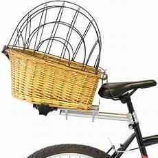 Vintage Wicker Rear Bicycle Bike Cycle Pet Carrier Basket