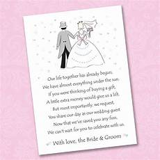 Wording For Asking For Money As A Wedding Gift