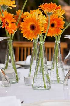 diy projects gerbera daisy centerpieces