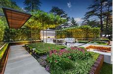 stylish modern garden and terrace design by nathan burkett