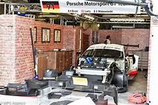 garage le mans teams setting up for le mans test day part 2 the gtes