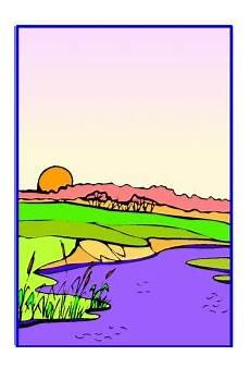 Malvorlagen Landschaften Gratis Abendlandschaft Ausmalbild Malvorlage Landschaften