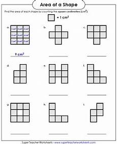 area worksheet counting squares llol x area