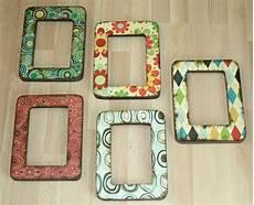 bilderrahmen verzieren ideen easy decoupage frames favecrafts