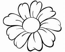 fiori da colorare per bambini il disegno di un grande fiore con bellissimi petali da