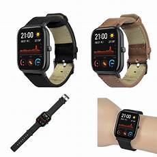 Bakeey Canvas Leather Band Amazfit by Bakeey Genuine Leather Band For Amazfit Gts