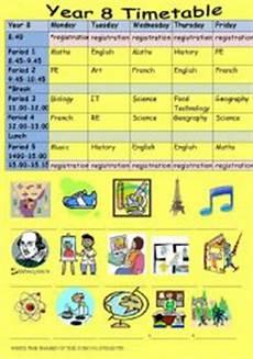 my school timetable esl worksheet by sophie a