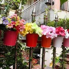 vasi colorati per piante vasi colorati in metallo per fiori da balcone