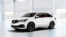 the 2019 acura mdx a spec gets black trim and a meaner chin the
