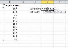 prozentuale abweichung berechnen excel gehen