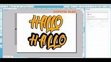 silhouette software tutorial schrift mit rand erstellen