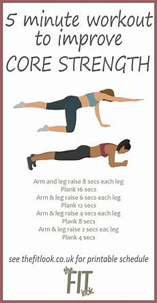 free printable 5 minute core workout best abdominal