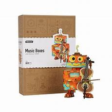 Newest Wooden Puzzle Assembly Gift Children by Robotime Diy 3d Robot Performer Wooden Puzzle