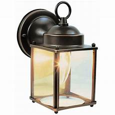 design house coach rubbed bronze outdoor wall downlight 506576 the home depot
