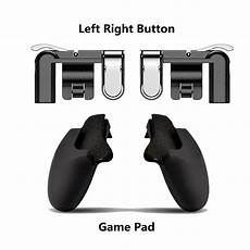 Black Controller Trigger Shooter Gamepad by Mobile Button Aim Key Gaming Trigger L1r1