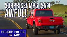 2020 jeep gladiator mpg numbers comparison
