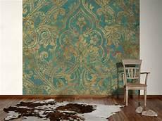 tapeten vintage designtapete barock ornament vintage t 252 rkis tapeten