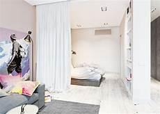 raumteiler ideen vorhänge trennvorhang zimmer raumteiler schlafzimmer weiss