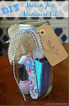 baby shower hostess gifts diy mason jar manicure kit