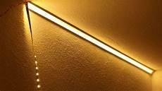 led streifen deckenmontage led mit alu profilen an der wand oder decke