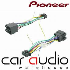 pioneer car radio stereo 16 wire wiring harness ebay pioneer 16 iso head unit replacement car stereo wiring