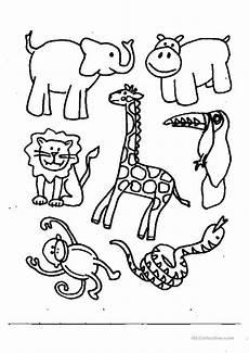 animals coloring worksheet free esl printable