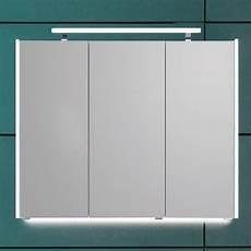 puris quada spiegelschrank 100 cm mit seitlichen led