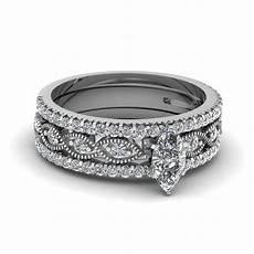 crossover marquise diamond trio wedding ring in 14k white gold fascinating diamonds