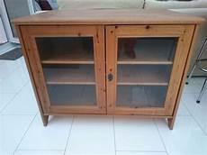ikea leksvik solid antique pine tv cabinet with lockable