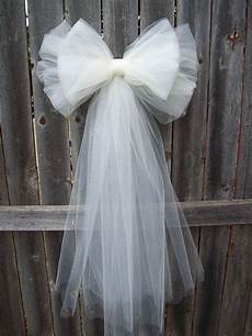 wedding pew bows tulle pew bow tulle wedding formal