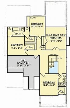 upstair house plans 4 bed house plan with upstairs children s den 740003lah