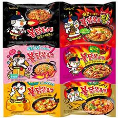 samyang korean ramen spicy chicken roasted noodles spicy 6type ebay
