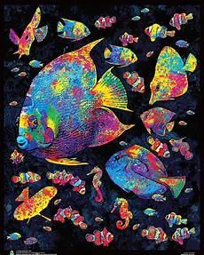 com painted fish flockless blacklight reactive