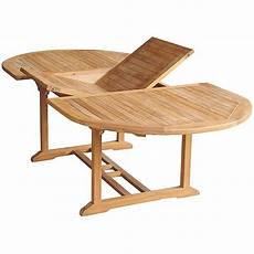 Table Exterieur Teck Ovale 150cm Extensible