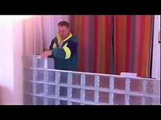 mur en paves de verre renovation separation cloison