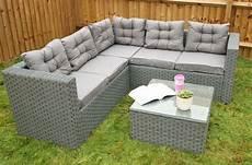 yakoe conservatory 5 seater rattan corner sofa set garden