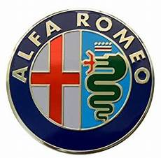 alfa romeo large thin embossed aluminum emblem