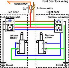 Wire Diagram Power Door Lock by Install Power Locks The Ranger Station Forums