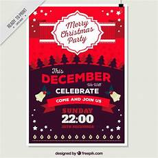 merry christmas poster in tones vector free download