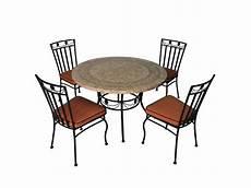 Salon De Jardin 4 Chaises Et 1 Table Ronde Contact