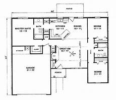 three bedroomed bungalow house plans lovely three bedroom bungalow house plans new home plans