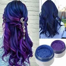 coloration cheveux bleu cire coloree cheveux bleu violet lavable femme unisex