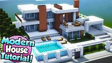 Minecraft How To Build A Large Modern House Tutorial 15