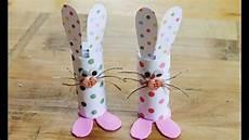 basteln mit klopapierrollen ostern easter craft how to make toilet roll bunnies