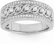 jcpenney modern 1 2 ct t w diamond 10k white gold anniversary band shopstyle