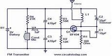 Fm Transmitter Circuit Diagram Schematic by Simplest Fm Transmitter Modulation Circuit With Bf494