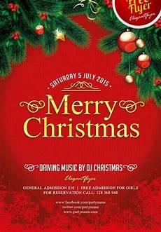 merry free psd flyer template flyer