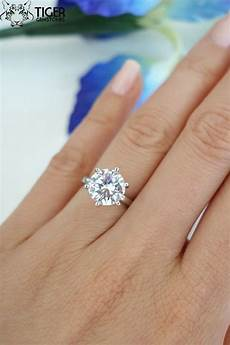 3 carat 6 prong solitaire engagement ring by tigergemstones say i do pinterest