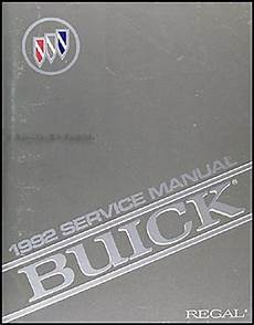 vehicle repair manual 1992 buick regal electronic toll collection 1992 buick regal repair shop manual original