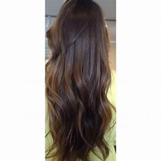 long chocolate brown brunette dark hair highlights